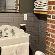 Salvaged materials shine in this beautiful bathroom renovation