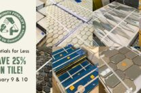 Save 25% on beautiful wall and floor tile!