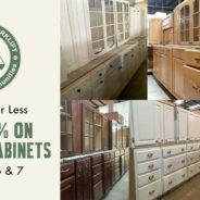 Save 25% on Kitchen Cabinet sets and singles this weekend!