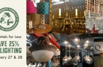 Save 25% on vintage and modern lighting this weekend!