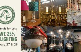 Save 25% on vintage and modern lighting this weekend!