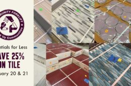 Save 25% on beautiful salvaged wall and floor tile!