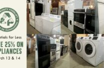 Save 25% on appliances in our reuse warehouse this weekend!