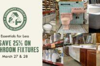 Save 25% on modern and vintage bathroom fixtures!
