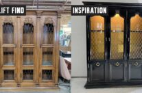 DIY Inspiration: Black-Lacquered China Cabinet