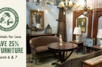 Modern and Vintage furniture is 25% off this weekend!