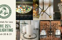 Lights! Save 25% on modern and vintage light fixtures this weekend