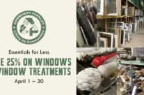 Save 25% on windows and window treatments in April!