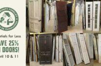 Doorn't miss it! Save 25% on modern and vintage doors this weekend