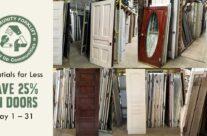 Behind Door #1: A 25% off doors sale!
