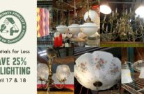 Save 25% on modern and vintage light fixtures!