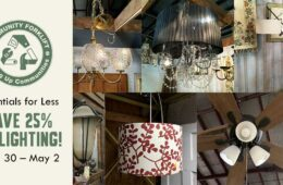Modern and vintage lighting is 25% off April 30–May 2!
