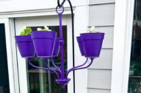 Before and After: creative upcycled garden chandelier!