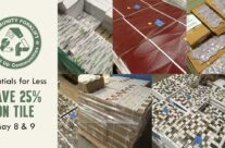 Save 25% on tile this weekend!