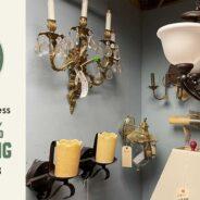 Take 25% off modern and vintage salvaged lighting!
