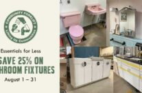 Save 25% on bathroom fixtures during August!