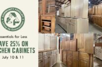 Save 25% on cabinet sets, single cabinets, and cabinet doors!