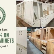 Save 25% on Kitchen Cabinet sets, single cabinets, and cabinet doors!