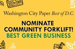Just a few days left to nominate us BEST GREEN BUSINESS!