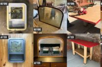 Creative upcycling projects using salvaged stuff from Community Forklift!