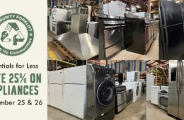 Save 25% on appliances September 25 & 26!