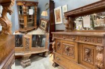 Vintage History: antique carved China Cabinet and Sideboard