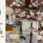 Save 25% on salvaged modern and vintage lighting!