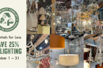 Save 25% on salvaged modern and vintage lighting in October