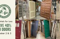 Save 40% on salvaged interior and exterior doors this weekend!