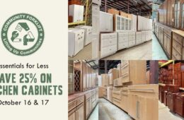Save 25% on modern and vintage kitchen cabinet sets, singles, and doors!