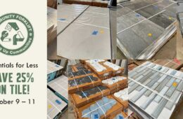 Beautiful salvaged tile is 25% off this holiday weekend!