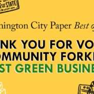 Thank you for voting Community Forklift BEST GREEN BUSINESS!